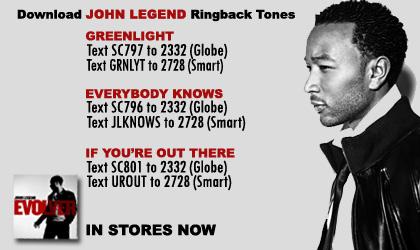 john legend ringback tones