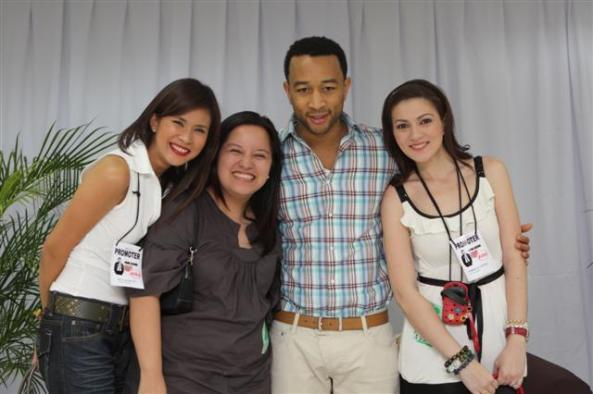 John Legend with Carmina Villaroel and Gelli DeBelen