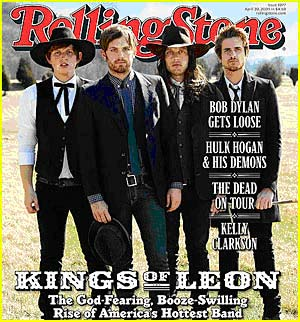 king-of-leon on the cover of Rolling Stone